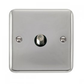 Click Deco Plus Single Satellite Socket DPCH156BK