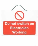SES Sterling Electrician Working Label WLNA10RW/1