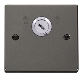 Click Deco Black Nickel 20A DP Key Lockable Switch VPBN660
