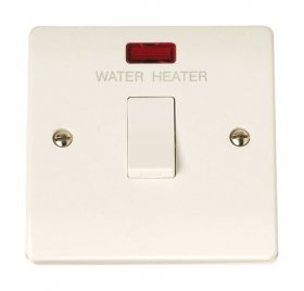 "Click Curva CCA042 20A Double Pole Switch + Neon ""Water Heater"""