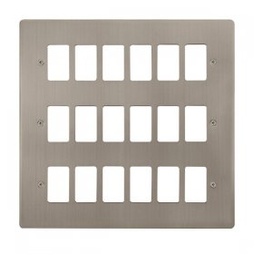 Click Define S/Steel 18 Gang Grid Pro Front Plate FPSS20518