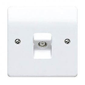 MK Logic Plus K3520WHI 1 Gang TV/FM Coaxial Socket