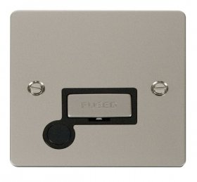 Click Define Pearl Nickel Unswitched Fused Spur + F/O FPPN550BK