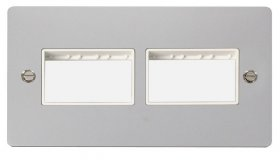 Click Define Polished Chrome Double Plate 6 Gang Aper FPCH406WH