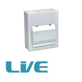 LIVE 4 Way Metal Clad Consumer Unit with 80A RCD LHMC06/RC80