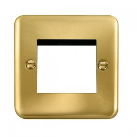 Click Deco Plus Satin Brass New Media Twin Plate DPSB311