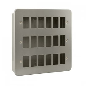 Click Metal Clad 18 Gang Grid Pro Front Plate CL20518