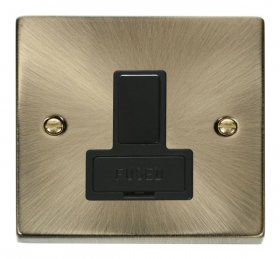 Click Deco Antique Brass Switched Fused Spur VPAB651BK