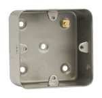 Click Metal Clad CL087 1 Gang 50mm Deep Mounting Box