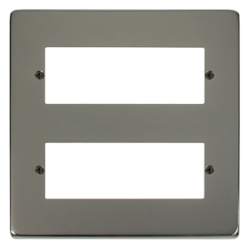 Click Deco Black Nickel 12 Way Mini-Grid Plate VPBN512