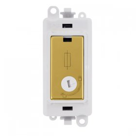 Click Grid Pro GM2047-LPWBR 13A Fused Lockable Mod Wh Pol/Brass