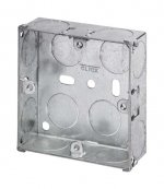 1 Gang 25mm Deep Galvanised Knock Out Box
