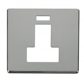 Click Definity 13A Switched Fused Spur Neon Cover Plate SCP252CH