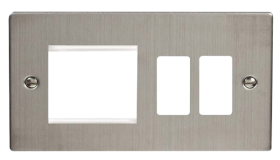 Click Deco S/Steel New Media - Grid Pro Combi Plate VPSS31102