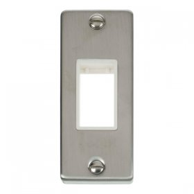 Click Deco Stainless Steel 1 Gang Architrave Plate VPSS471WH