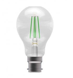 Bell 4W BC LED Green Filament GLS Lamp ­60065