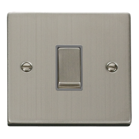 Click Deco Stainless Steel 1 Gang 2 Way Switch VPSS411GY