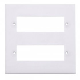 Click Polar White 12 Way Mini-Grid Plate PRW612 (Yokes Included)