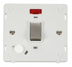 Click Definity 20A DP Switch With F/O Neon Insert SIN523PWSS