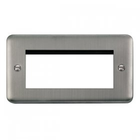 Click Deco Plus Stainless Steel New Media Quad Plate DPSS312
