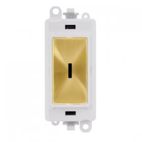 Click Grid Pro GM2003PWSB 2 Way Keyswicth Module White Sat/Brass