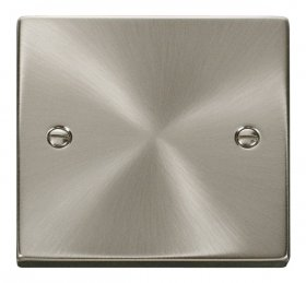 Click Deco Satin Chrome 1 Gang Blank Plate VPSC060