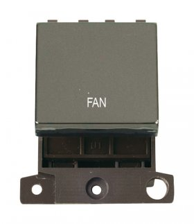 Click MiniGrid MD022BNFN Black Nickel 20A DP Fan Switch Module