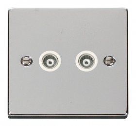 Click Deco Polished Chrome Isolated Coaxial Socket VPCH159WH