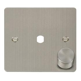 Click Define Stainless Steel 1 Gang Empty Dimmer Plate FPSS140PL