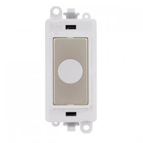 Click Grid Pro GM2017PWPN 20A Flex Outlet Module White P/Nickel