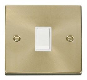 Click Deco Satin Brass 20A Double Pole Switch VPSB622WH