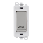 Click Grid Pro GM2018PWCH-WH Mod White Pol/Chrome Water Heater