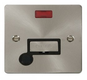Click Define Brushed Steel Unswitched Spur Neon + F/O FPBS553BK