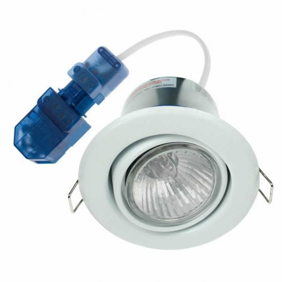 Ovia White GU10 Fire Rated Adjustable Downlight OVGU320WH