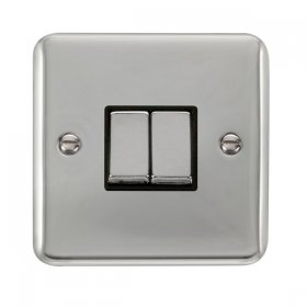 Click Deco Plus 2 Gang 2 Way Ingot Switch DPCH412BK