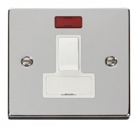 Click Deco Polished Chrome Switched Fused Spur + Neon VPCH652WH