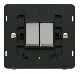 Click Definity 2 Gang 2 Way Switch Insert SIN412BKCH