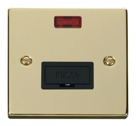 Click Deco Polished Brass Unswitched Fused Spur + Neon VPBR653BK