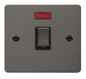 Click Define Black Nickel 20A Double Pole Switch Neon FPBN723BK