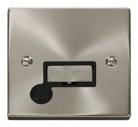 Click Deco Satin Chrome Unswitched Fused Spur + F/O VPSC550BK