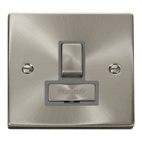 Click Deco Satin Chrome Ingot Switched Fused Spur VPSC751GY