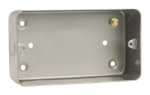 Click Metal Clad CL088 2 Gang 50mm Deep Mounting Box