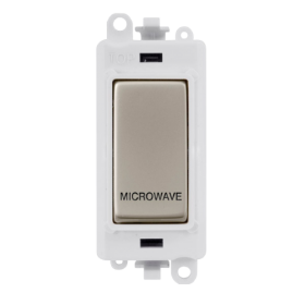 Click Grid Pro GM2018PWPN-MW DP Sw Mod White P/Nickel Microwave