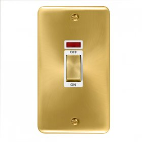 Click Deco Plus 2 Gang 45A DP Switch Neon DPSB503WH