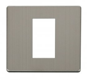 Click Definity Single Media Plate 1G Cover Plate SCP310SS