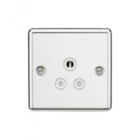 Knightsbridge Polished Chrome 5A Unswitched Round Socket CL5APCW