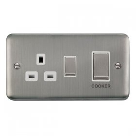 Click Deco Plus 45A DP Switch with 13A Outlet DPSS504WH