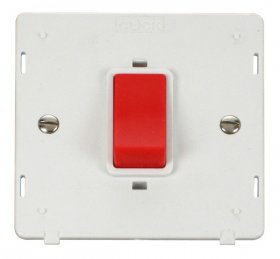 Click Definity 45A DP Switch Single Plate Insert SIN200PW