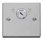 Click Deco Polished Chrome 20A DP Key Lockable Switch VPCH660