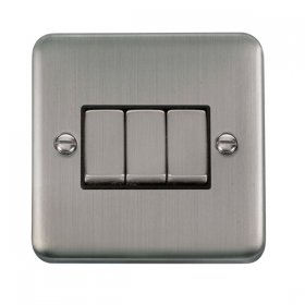 Click Deco Plus 3 Gang 2 Way Ingot Switch DPSS413BK